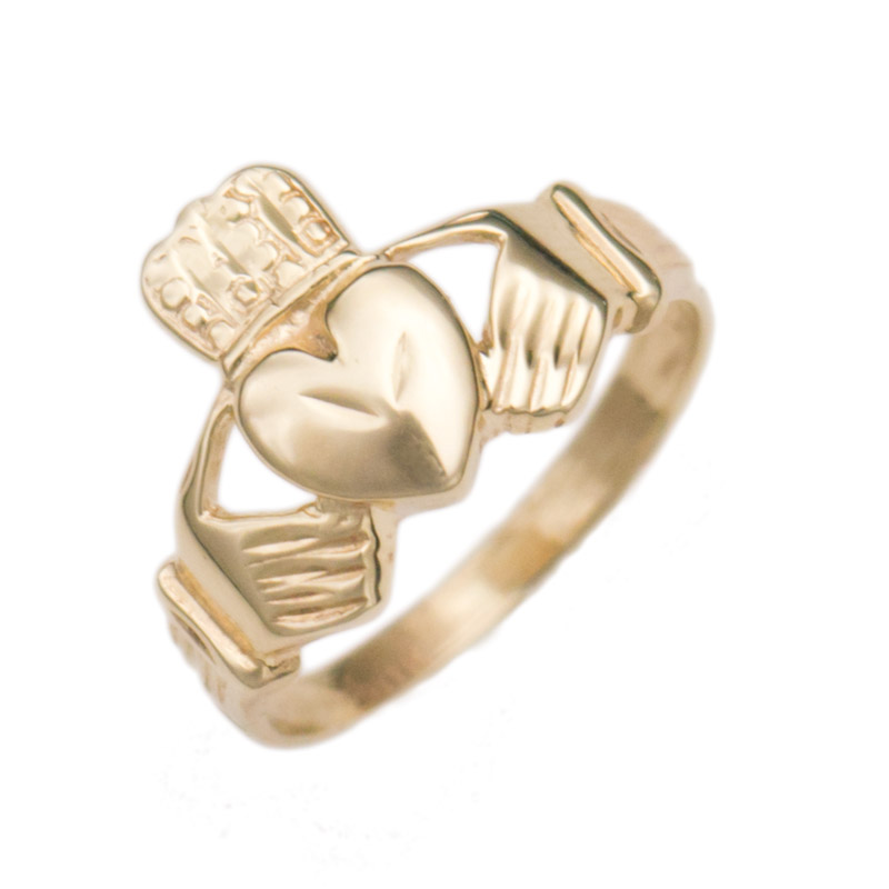 10k yellow gold estate claddagh ring jewelsmith