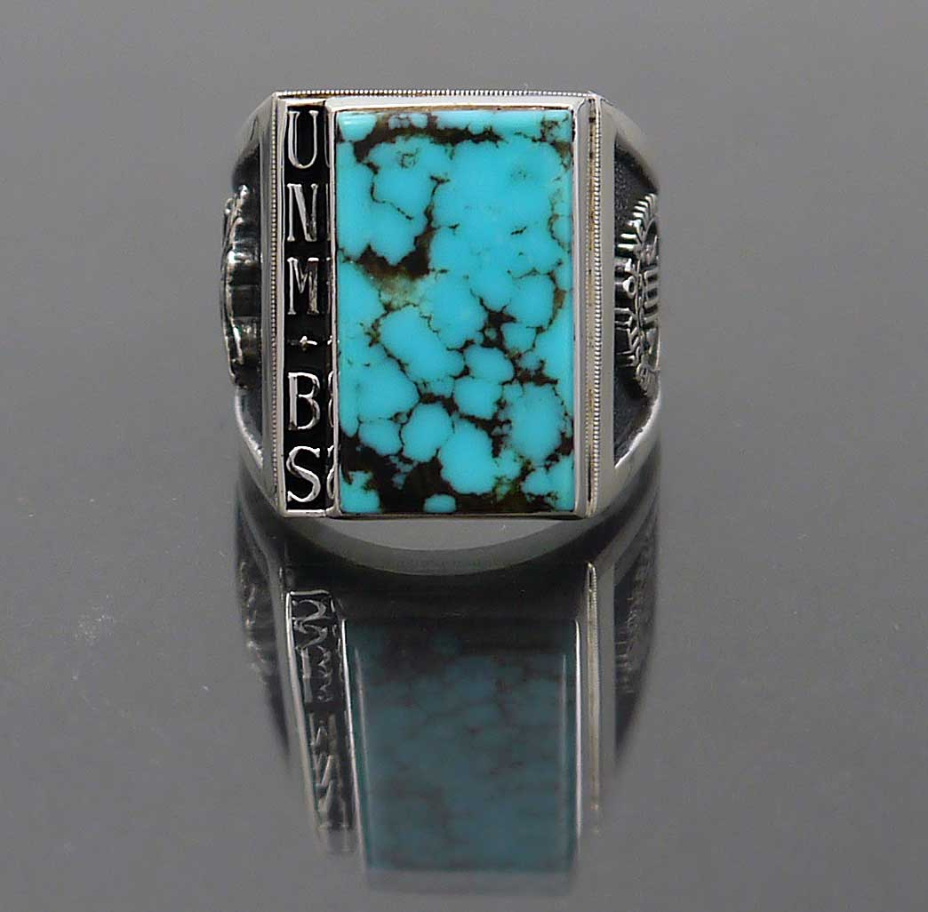 sterling silver turquoise class ring new mexico quot unmbs